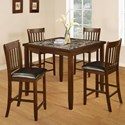 Generation Trade Odessa 5-Piece Counter Height Table Set - Item Number: 313327