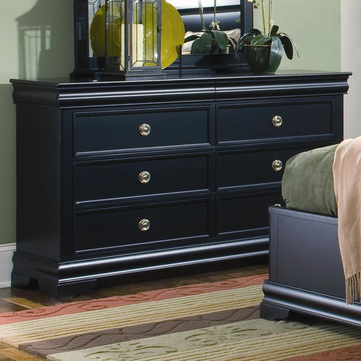 Louis Philippe Dresser With 6 Drawers And Hidden Jewelry Storage