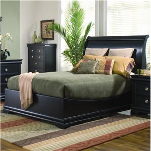 Generations by Coaster Duncan Transitional Swept-Back Queen Sleigh Bed with Low Profile Footboard