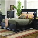 Generations by Coaster Duncan Transitional Swept-Back Queen Sleigh Bed with Low Profile Footboard  - Bed Shown May Not Represent Size Indicated
