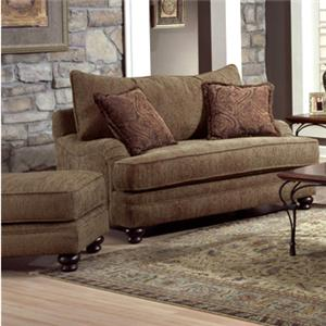 Genesis 1900 Chair and Ottoman with Elegant Wood Legs