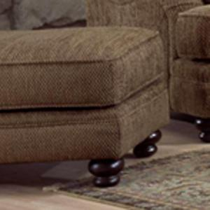 Genesis 1900 Traditional Styled Accent Ottoman for Chair