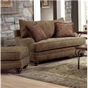 Genesis 1900 Traditional Styled Accent Ottoman for Chair - Shown with Coordinating Collection Chair
