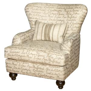 Genesis 1950 Genesis Traditional Wingback Accent Chair with Bun Feet