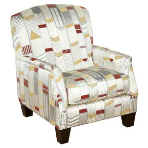 Genesis 1950 Contemporary Accent Chair with Upper City Style