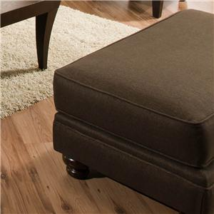 Genesis 1950 Casual Styled Ottoman with Turned Bun Feet
