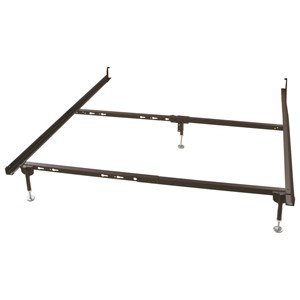 Twin/Full/Qn Bed Frame for Hook-In Headboard