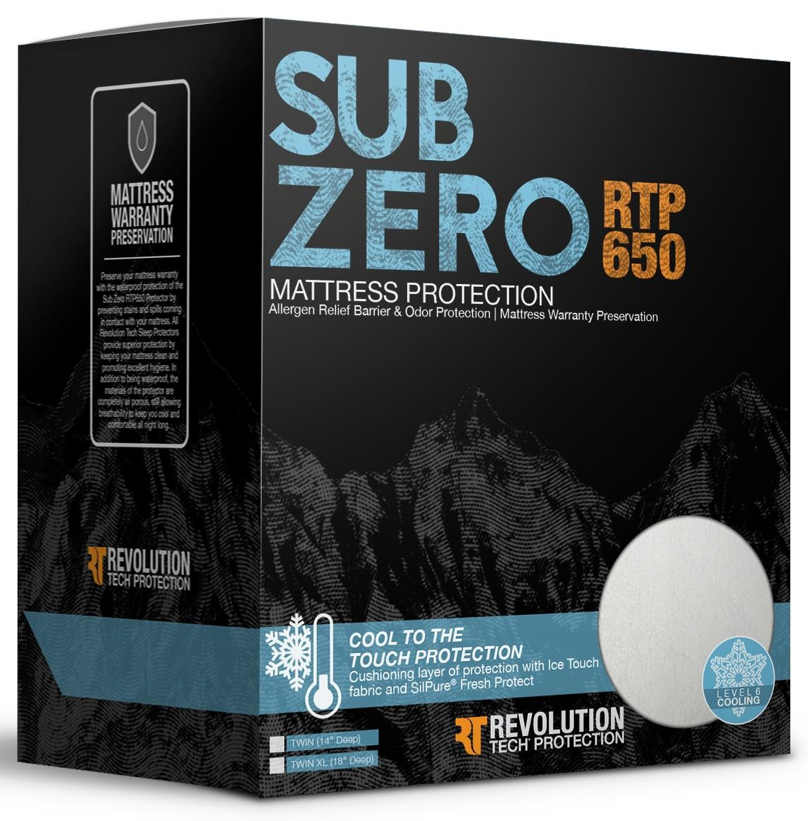SUB ZERO Full Mattress Protector