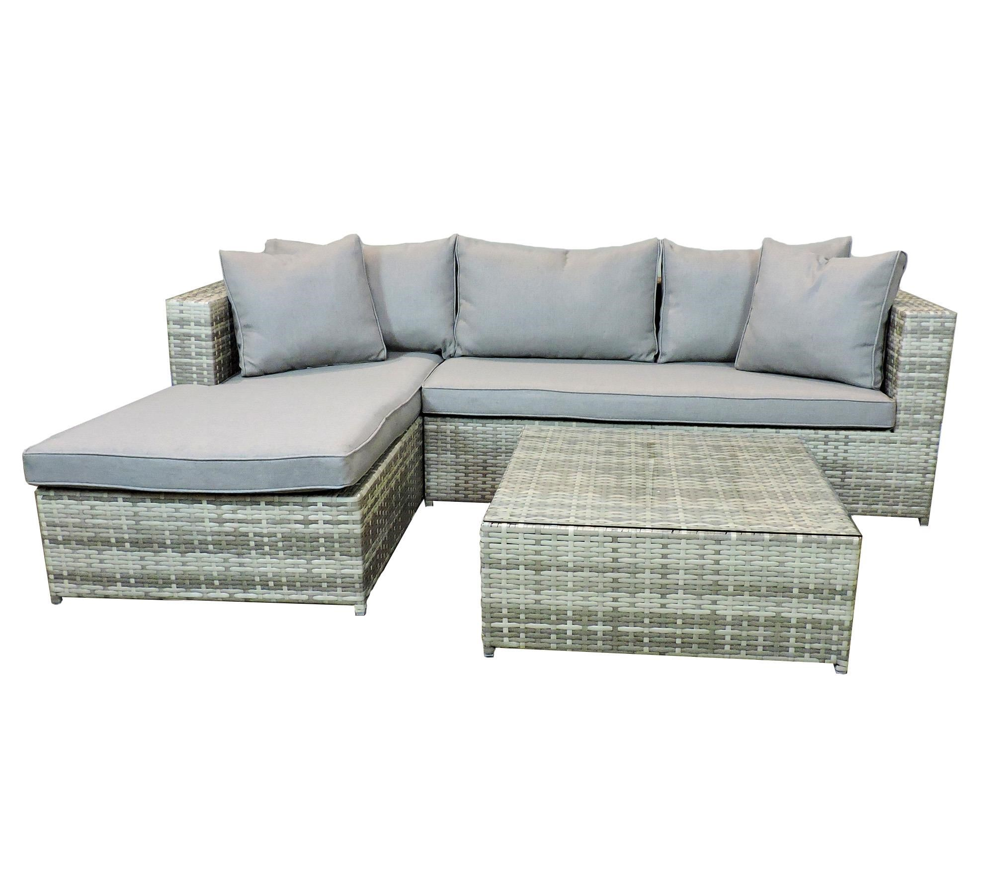 Belfort Essentials Outdoor Palmetto Outdoor Sectional and Ottoman - Item Number: 13C074ASET