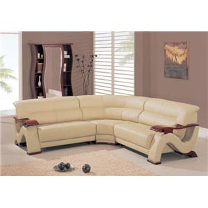 2033 Contemporary Sectional with Corner Wedge by Global Furniture