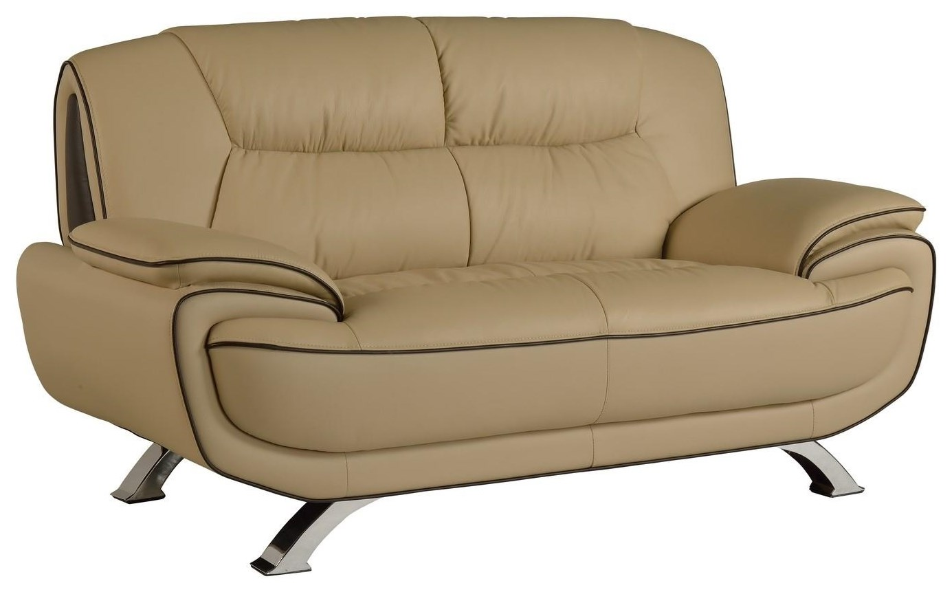 Global Furniture 405 Beige Love Seat - Item Number: 405