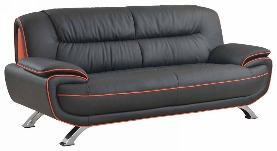 Global Furniture 405 Black Sofa - Item Number: 405