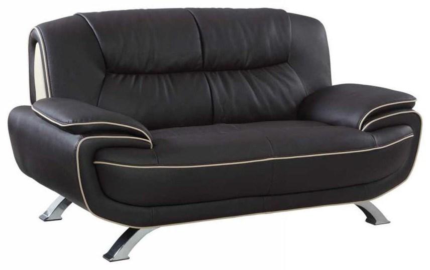 Global Furniture 405 Brown Love Seat - Item Number: 405