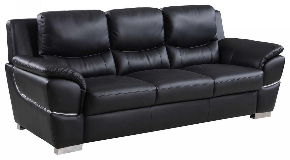 Global Furniture 4572 Black Sofa - Item Number: 4572