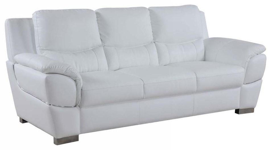 Global Furniture 4572 White Sofa - Item Number: 4572