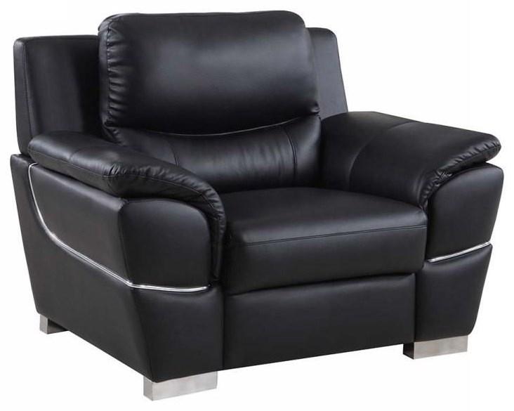 Global Furniture 4572 Black Chair - Item Number: 4572