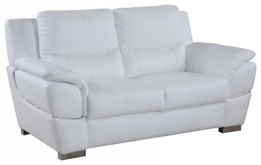 Global Furniture 4572 White Love Seat - Item Number: 4572
