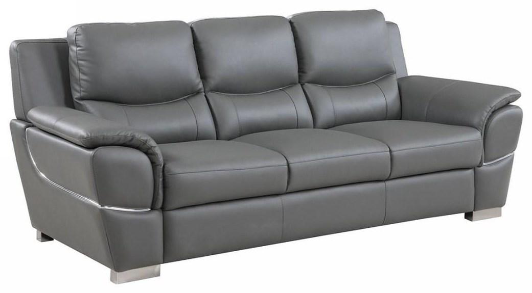 Global Furniture 4572 Gray Sofa - Item Number: 4572