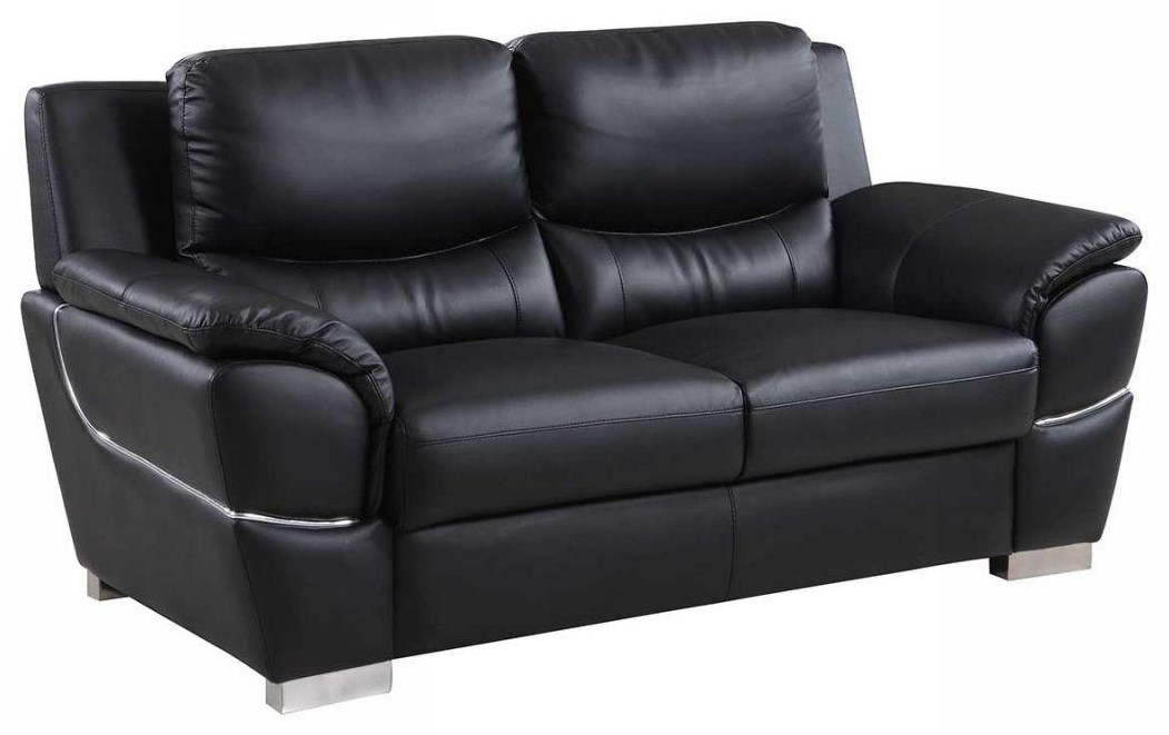 Global Furniture 4572 Black Love Seat - Item Number: 4572