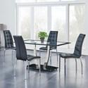 Global Furniture 716 5-Piece Dining Set - Item Number: D716DT -M+4XD716DC -M