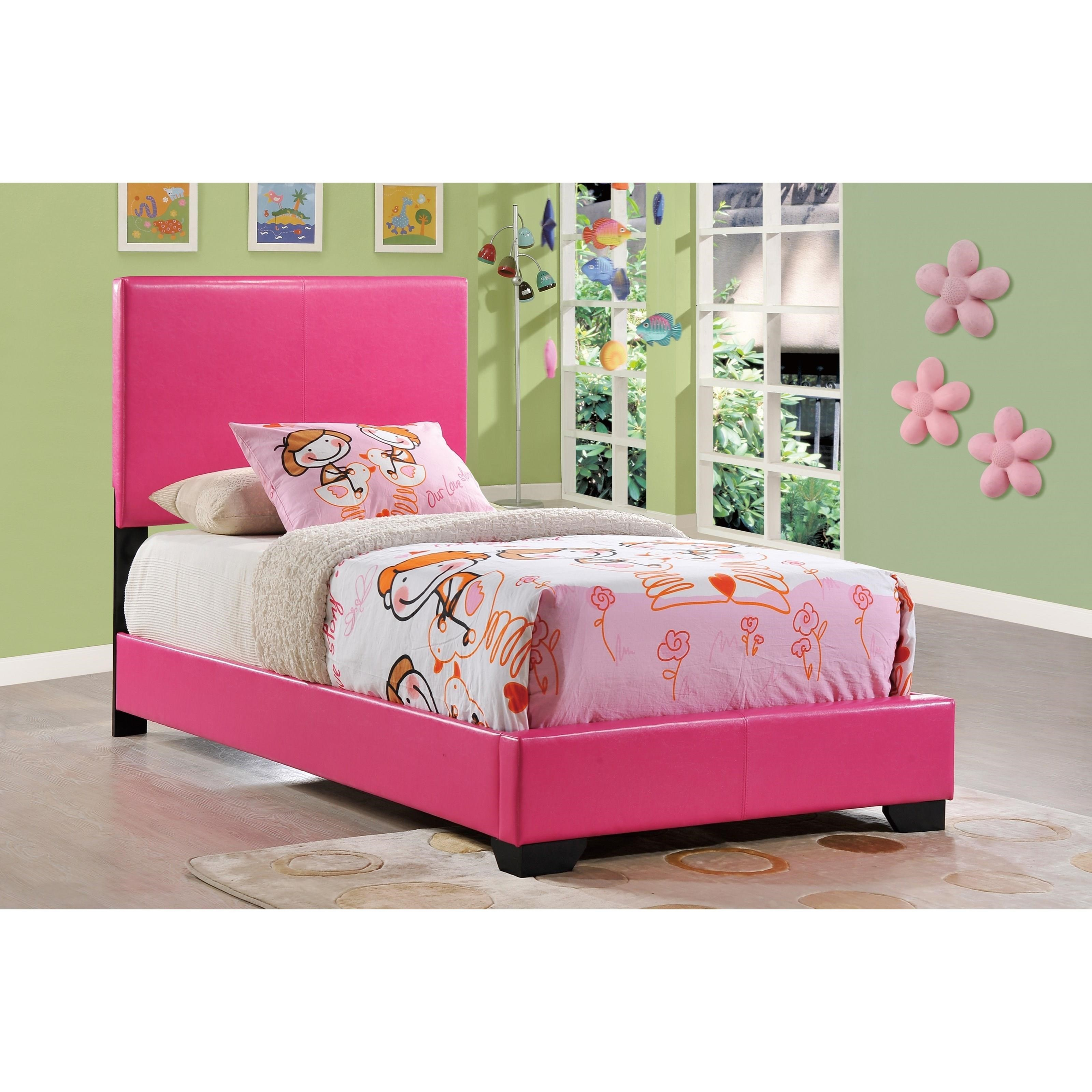 8103 Upholstered Twin Bed by Global Furniture at Corner Furniture