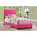 Global Furniture 8103 Upholstered Twin Bed - Item Number: 8103-P-TB