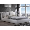 Global Furniture 8269 Padded King Bed - Item Number: 8269-WH-KB