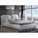 Global Furniture 8269 Padded Queen Bed - Item Number: 8269-WH-QB