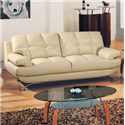 Global Furniture 9108 Contemporary Bonded Leather Sofa - 9108-CAP-S
