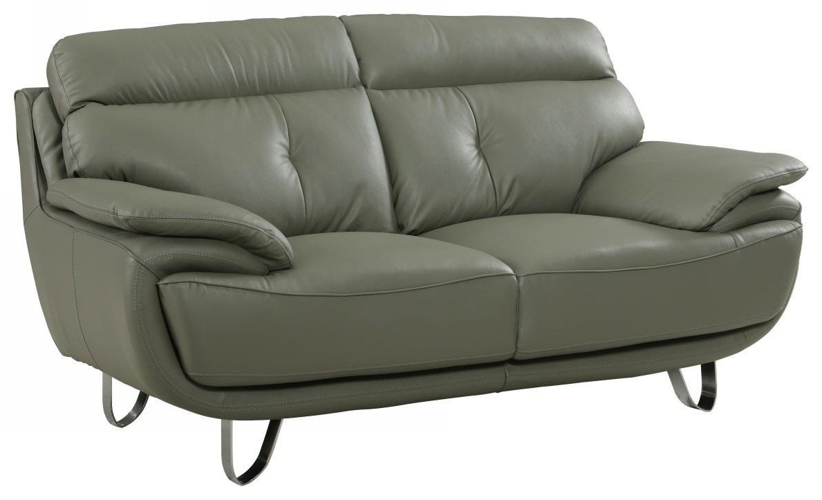 Global Furniture A159 Gray Love Seat - Item Number: A159