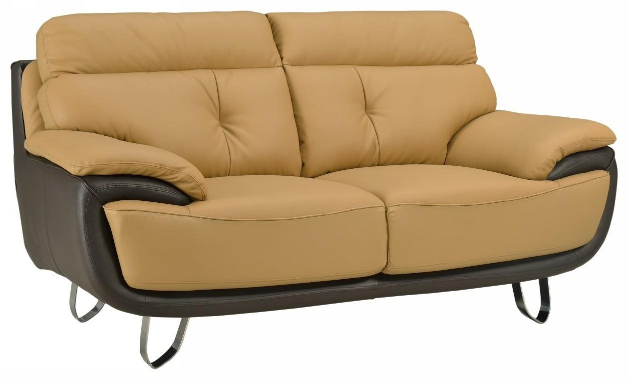 Global Furniture A159 Two-Tone Love Seat - Item Number: A159