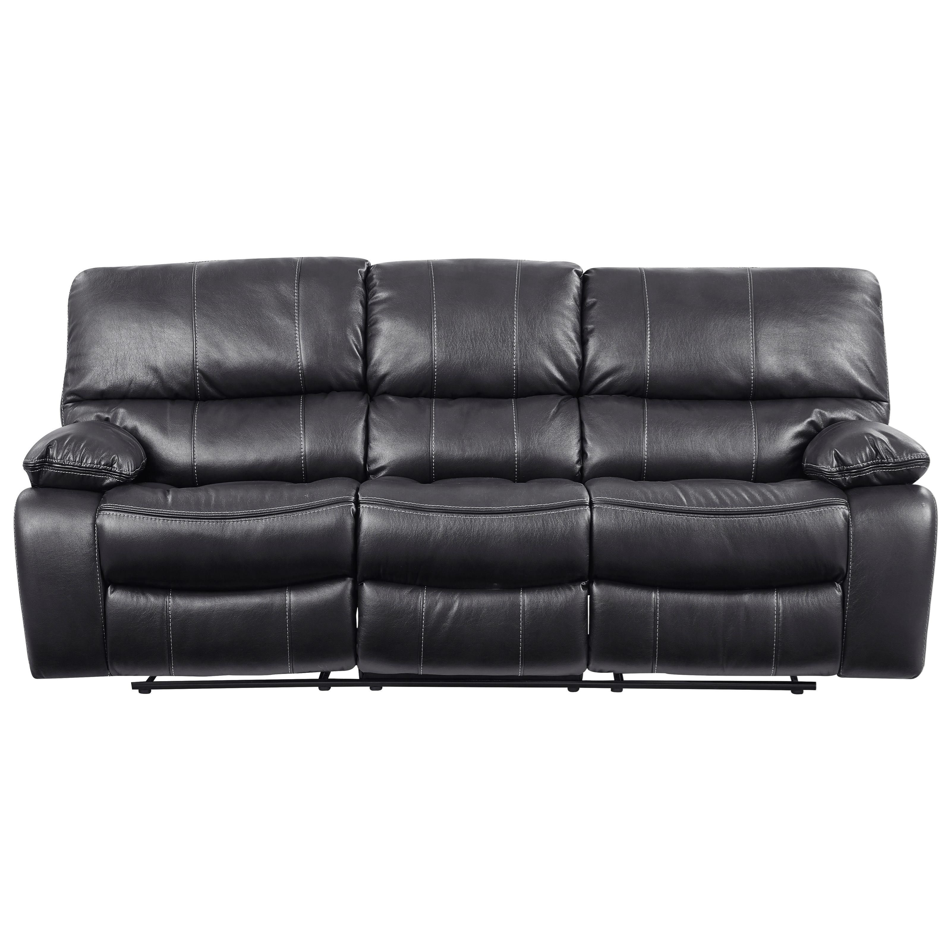 Agnes Reclining Sofa with 2 Storage Consoles by Global Furniture at Value  City Furniture