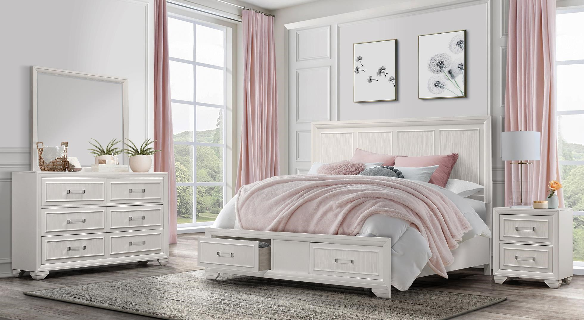 Pearl 4PC Full Bedroom Set at Rotmans
