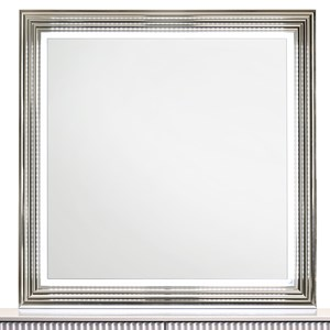 Contemporary Square Dresser Mirror with LED Lights
