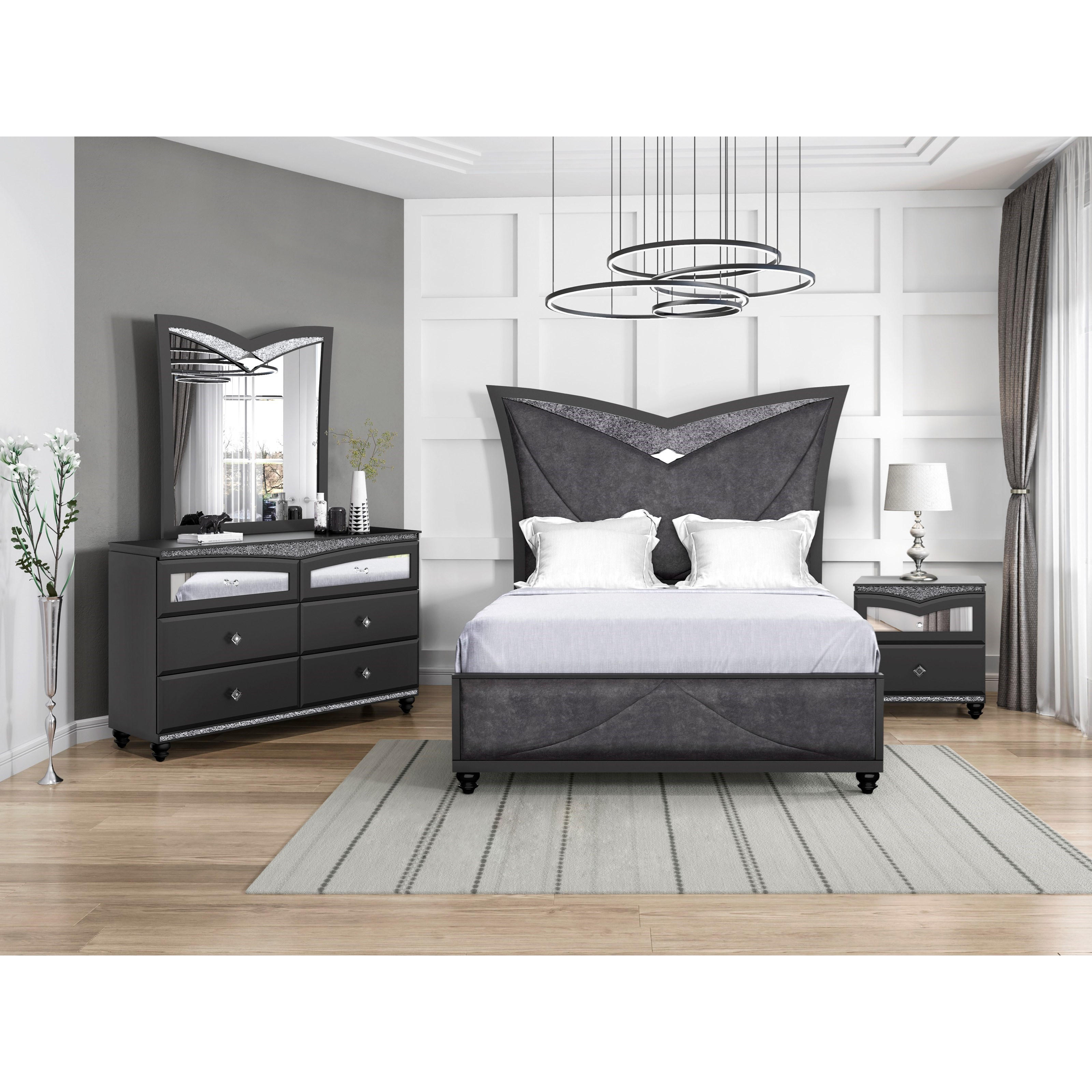 global furniture beverly full bedroom group | corner