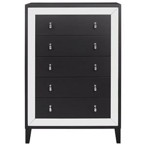 Glam 5-Drawer Dresser with Felt Lined Top Drawer