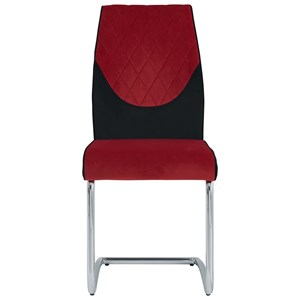 Contemporary Quilted Dining Chair with Two Tone Upholstery