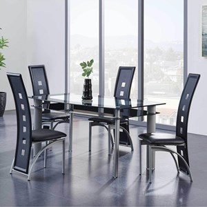 Contemporary 5-Piece Table and Chair Set