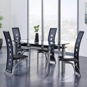 Global Furniture D1058 5-Piece Table and Chair Set - Item Number: D1058DT+4xDC
