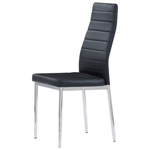 Dining Chair with Chrome Legs