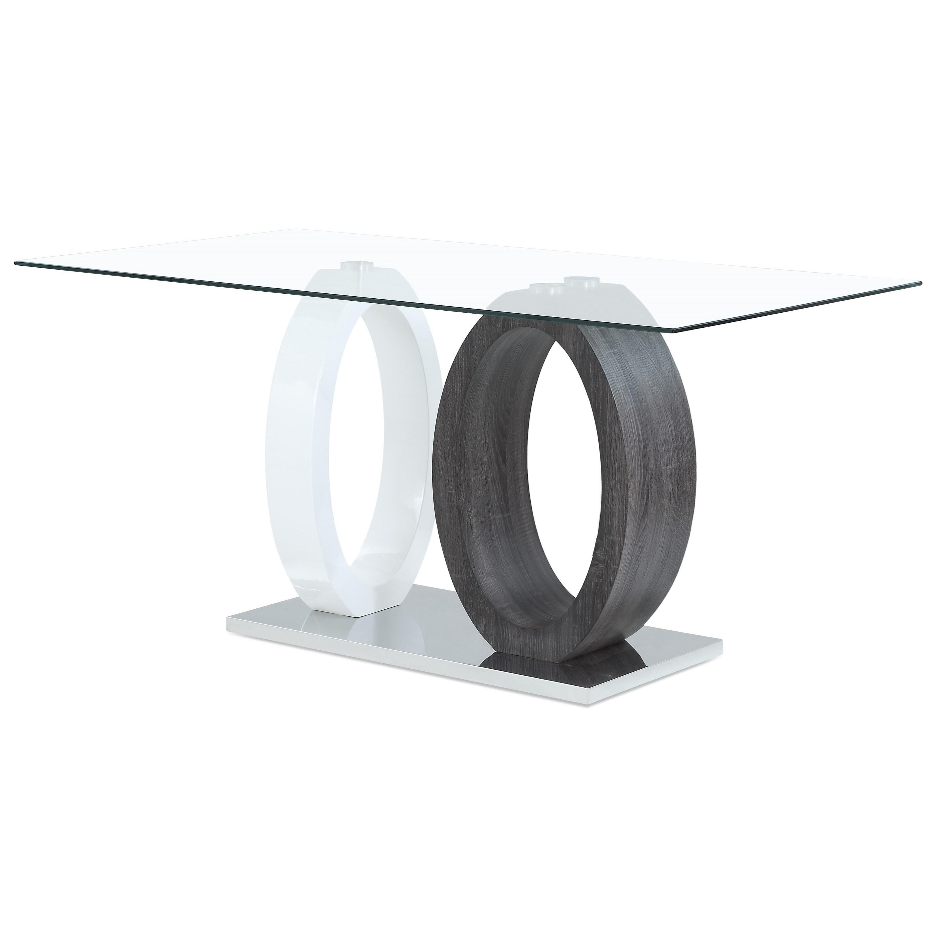 Global Furniture D1628 Contemporary Oval Base Dining Table With