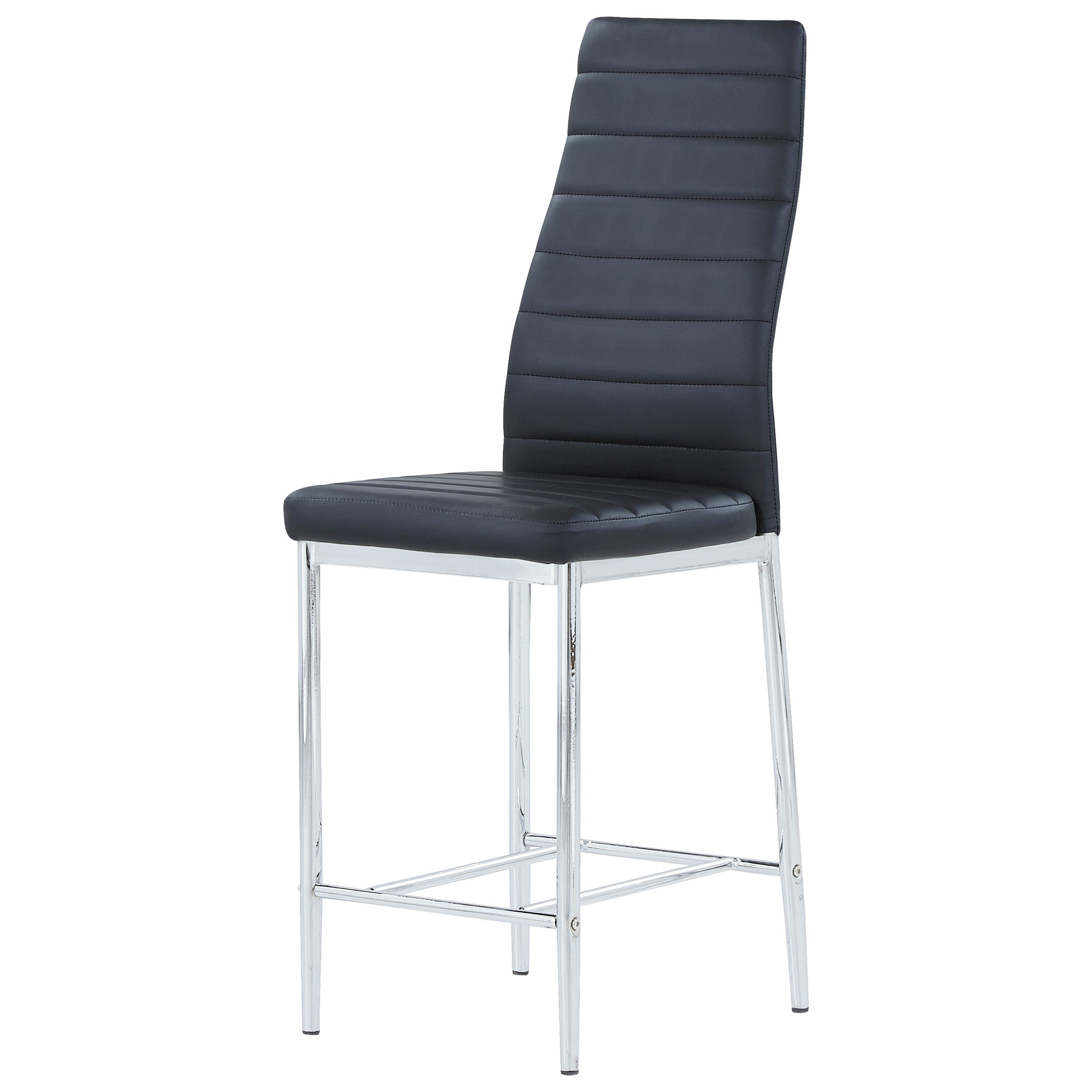 Padded Bar Stool With Stainless Steel Legs