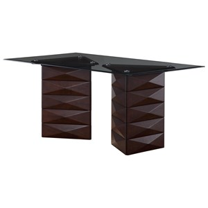 Double Pedestal Base Dining Table