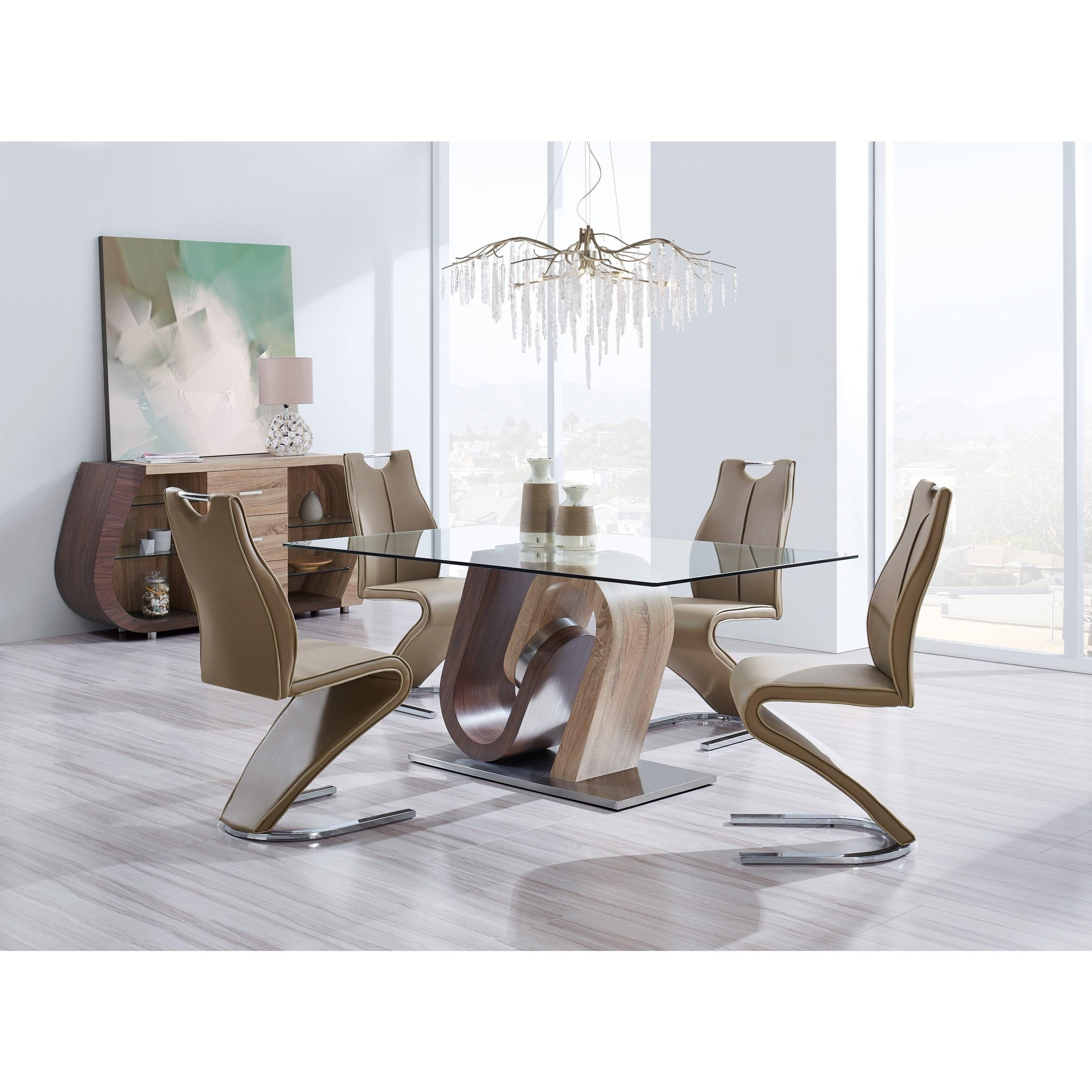 Global Furniture D4126 D4126N-BUFFET Ultra-Modern 3 Drawer