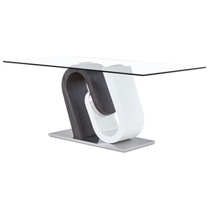 Ultra-Modern Glass Dining Table with Unique Pedestal Base