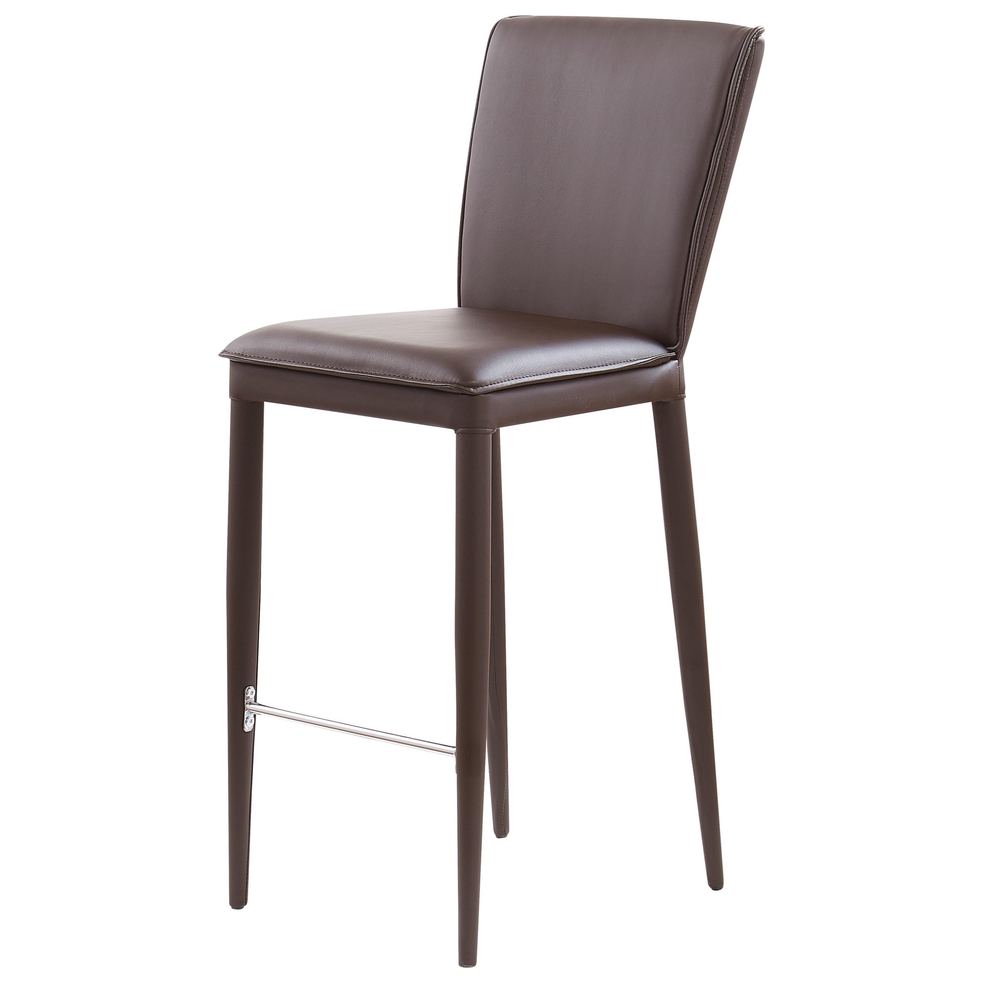 Global Furniture D6605 Bar Stool With Stainless Steel Footrest