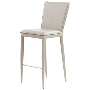 Bar Stool With Stainless Steel Footrest