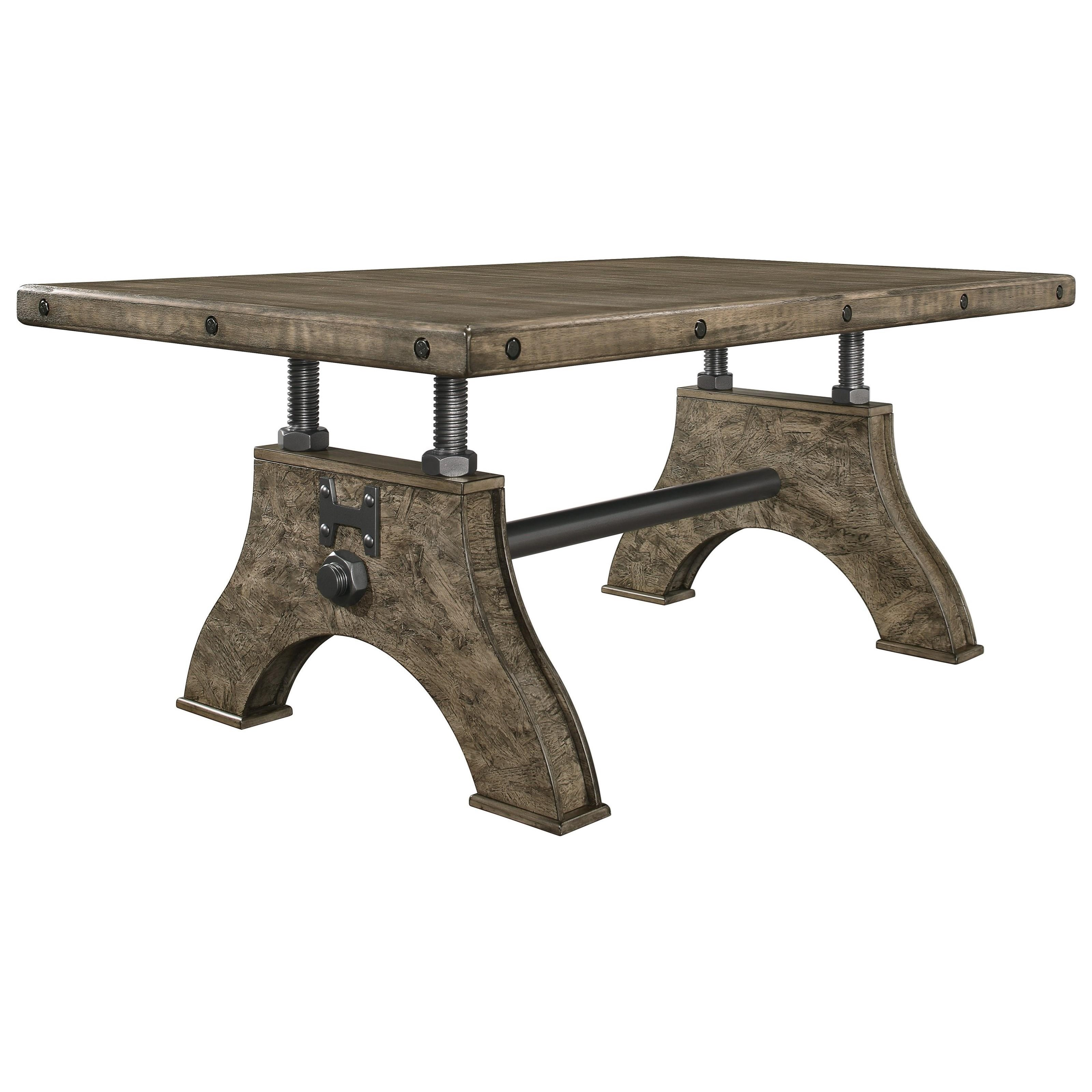 Work Bench Style Dining Table