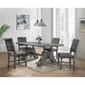 Global Furniture D855 5 Piece Table and Chair Set - Item Number: D855DT-GR+4xDC-GR