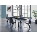 Global Furniture D88 5 Piece Table and Chair Set - Item Number: D88DT-BL+4xDC-BL